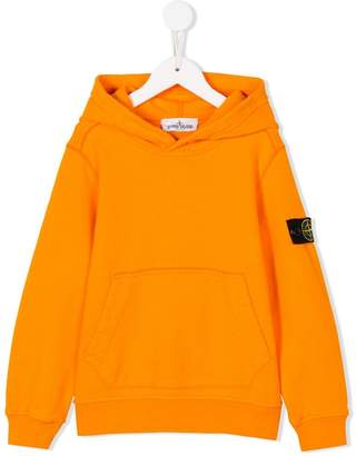 Stone Island Junior logo patch hoodie