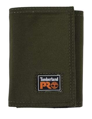 Timberland Men's Cordura Nylon RFID Trifold Wallet with ID Window