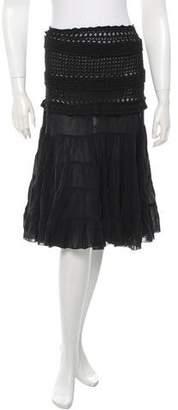 Blumarine Pleated Knit Skirt