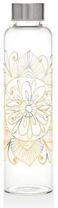 Godinger Silver Art Co Indian Design 20 oz. Glass Water Bottle
