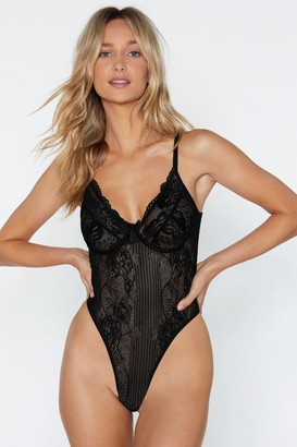 Nasty Gal Sheer Genius Lace Bodysuit