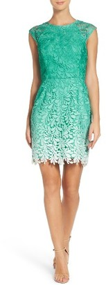Women's Adelyn Rae Ombre Lace Sheath Dress $112 thestylecure.com