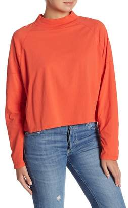 Free People Jackson Dolman Sleeve Mock Neck Tee