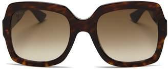 Gucci Oversized Gradient Square Sunglasses, 54mm