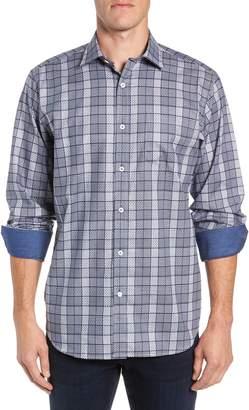 Bugatchi Classic Fit Woven Print Sport Shirt