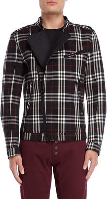 Imperial Star Plaid Slim Fit Moto Jacket