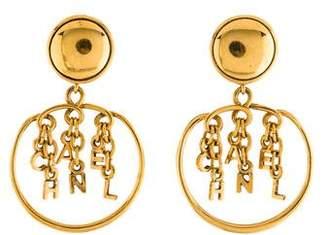 Chanel Dangling Logo Letters Clip-On Earrings