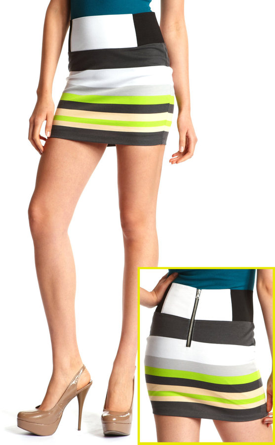 Lemon Lime Stripe Skirt