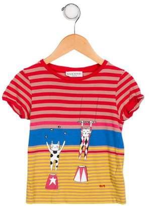 Sonia Rykiel Girls' Stripe Short Sleeve Top
