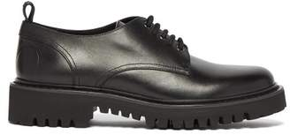 Valentino Vlogo Leather Derby Shoes - Womens - Black