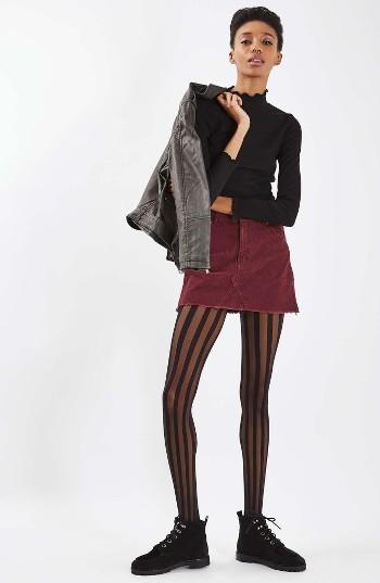 Women's Topshop High Rise Corduroy Miniskirt 5