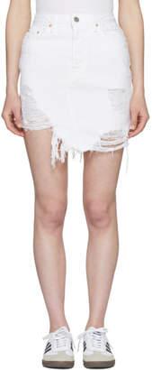 GRLFRND White Rhoda Denim Miniskirt