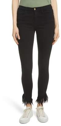 Frame Le High Shredded Skinny Jeans