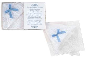 Hortense B. Hewitt Wedding Accessories Bride's Blue Bow Hanky