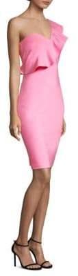 LIKELY Joslin One-Shoulder Ruffle Sheath Dress