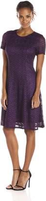 S.L. Fashions Women's Chevron Knit A-Line Dress