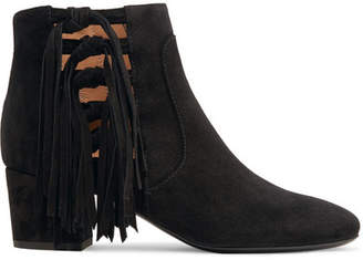 Laurence Dacade Roxter Tasseled Suede Ankle Boots - Black