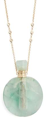 Jacquie Aiche Diamond, fluorite & yellow-gold necklace