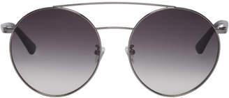 McQ Silver Round Sunglasses
