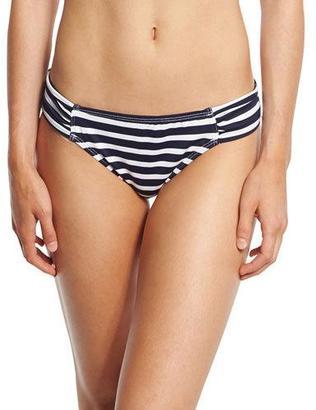 Tommy Bahama Breton-Striped Shirred-Side Hipster Swim Bottom $66 thestylecure.com