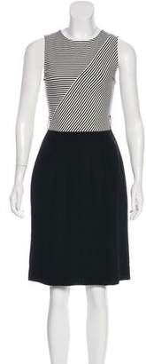 L'Agence Stripe Knee-Length Dress