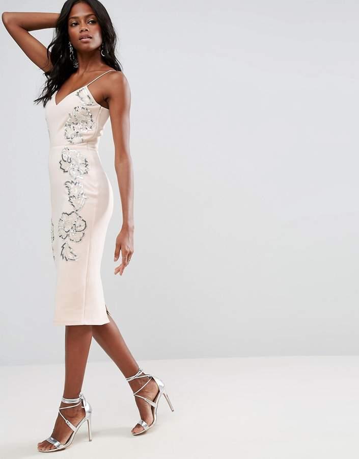 AsosASOS Embellished Contour Cami Midi Dress