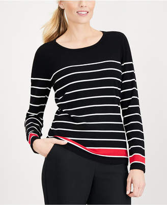 Karen Scott Thin-And-Thick Striped Top