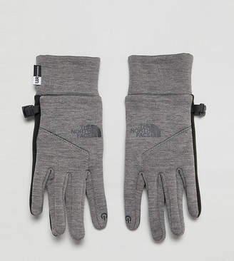 The North Face Womens Etip Gloves in Gray