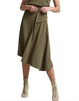SABA Dharma Drape Midi Skirt