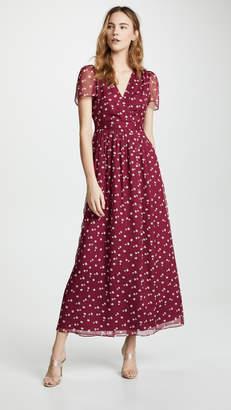 WAYF Rhoda Pleated Faux Wrap Dress