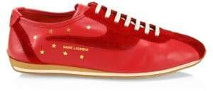 Saint Laurent Jay Leather& Suede Patchwork Sneakers