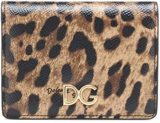 Dolce & Gabbana Leopard-print leather wallet