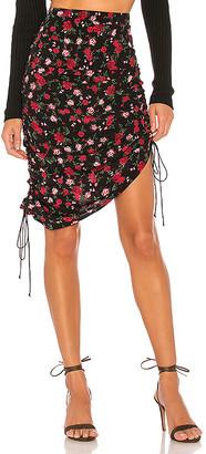 For Love & Lemons Molly Drawstring Skirt