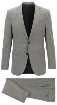 BOSS Hugo Wool Suit, Slim Fit Novan/Ben 48R Open Grey