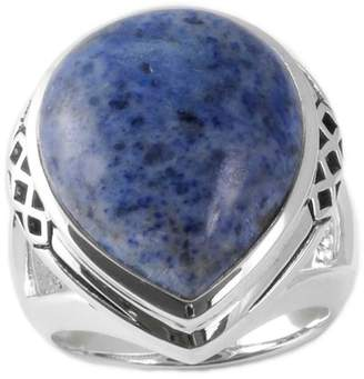 Barse Sterling Silver Dumortierite Teardrop Split Shank Ring - Size 7
