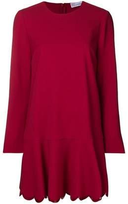 RED Valentino scalloped hem dress