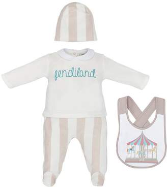 Fendi three-piece babygrow set