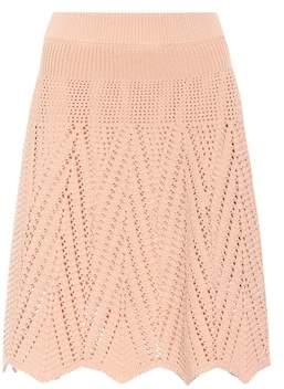 Chloé Crocheted cotton skirt