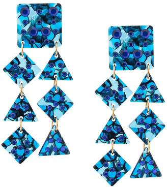 Lele Sadoughi embellished shell earrings