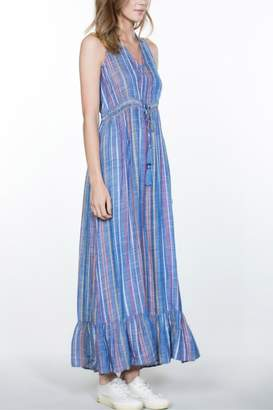 En Creme Striped Maxi Dress