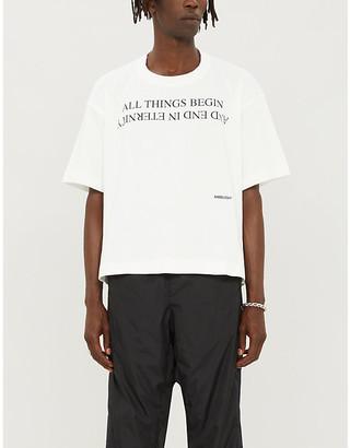 Ambush Slogan-print cotton-jersey T-shirt