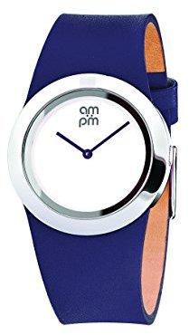 Am.pm. Am : Pmレディースpd104-l027 stainless-steelケースパープルレザーバンドクォーツ腕時計