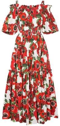 9c146932 Dolce & Gabbana floral-print off-shoulder cotton dress