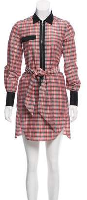 Isabel Marant Plaid Zip-Up Dress