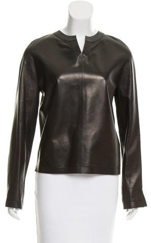 Tom Ford Leather Long Sleeve Top