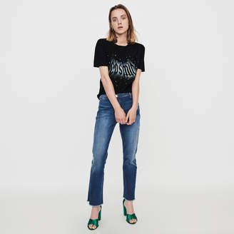 Maje Silk screen printed strass t-shirt