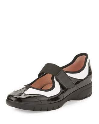 Taryn Rose Arnissa Mixed Leather Sport Slip-On $150 thestylecure.com
