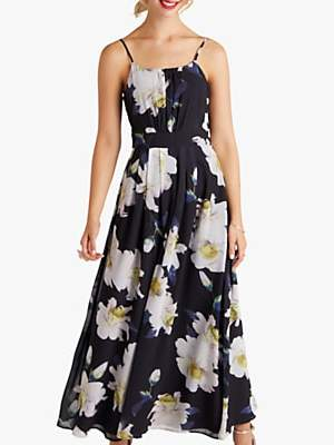 Yumi Floral Maxi Dress, Black