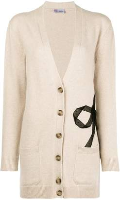 RED Valentino tulle bow mid-length cardigan