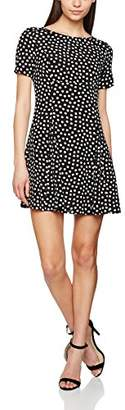 Juicy Couture Women's Illusion Lace Dress, (Pitch Black Cutie Floral), 8 (Size:Small)